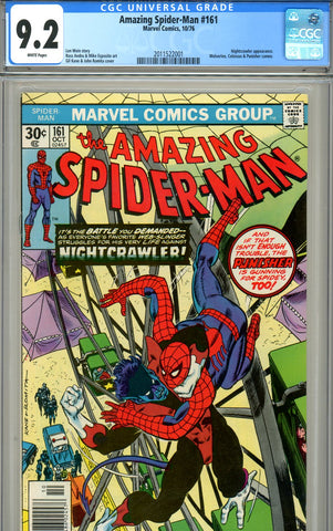 Amazing Spider-Man #161 CGC graded 9.2 white pages - SOLD!