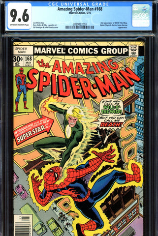 Amazing Spider-Man #168 CGC graded 9.6 John Romita cover - SOLD!