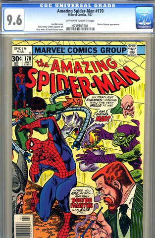 Amazing Spider-Man #170   CGC graded 9.6 - SOLD