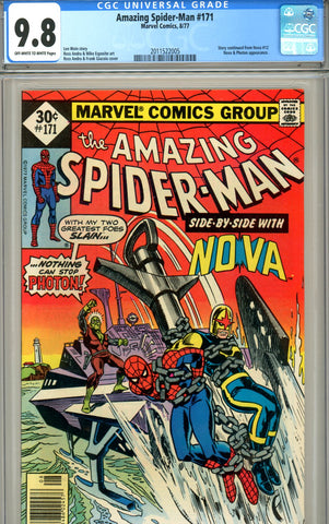 Amazing Spider-Man #171 CGC graded 9.8 SOLD!