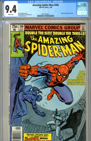 Amazing Spider-Man #200 CGC graded 9.4 white pages SOLD!