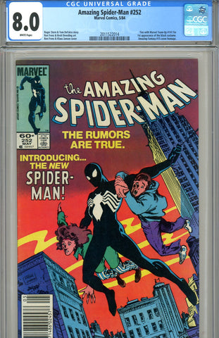 Amazing Spider-Man #252  CGC graded 8.0  first black costume SOLD!