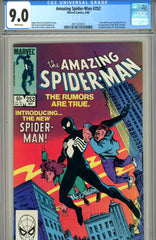 Amazing Spider-Man #252  CGC graded 9.0  first black costume