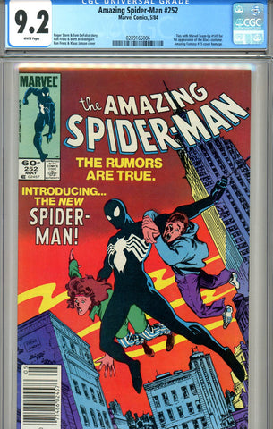 Amazing Spider-Man #252  CGC graded 9.2  first black costume SOLD!