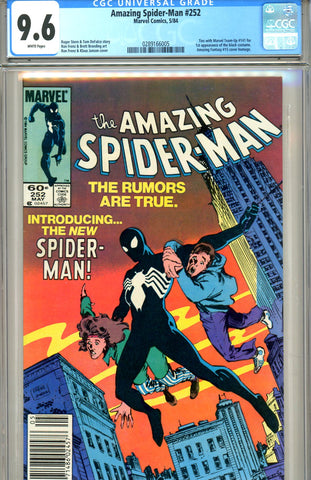 Amazing Spider-Man #252  CGC graded 9.6  first black costume SOLD!