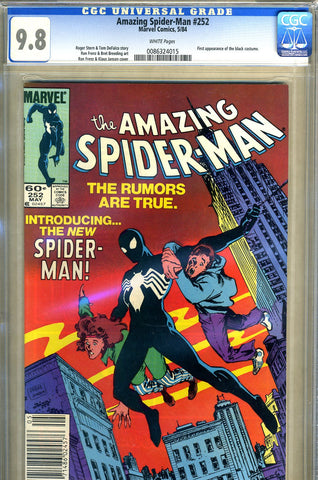 Amazing Spider-Man #252  CGC graded 9.8  first black costume - SOLD!