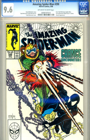Amazing Spider-Man #298 CGC graded 9.6 first McFarlane Spider-Man SOLD!