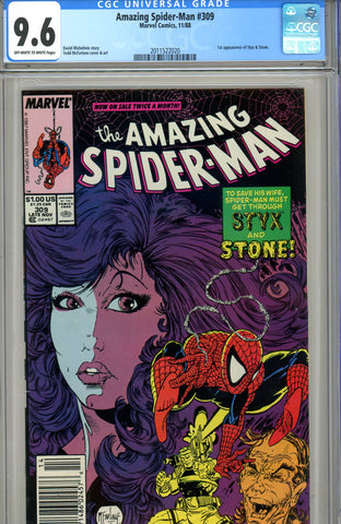 Amazing Spider-Man #309 CGC graded 9.6 first Styx & Stone - SOLD!