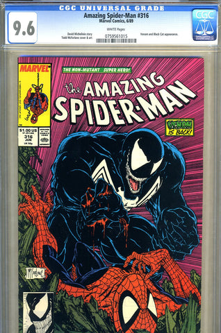 Amazing Spider-Man #316   CGC graded 9.6 - SOLD!