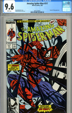 Amazing Spider-Man #317 CGC graded 9.6 Venom and Thing - SOLD!