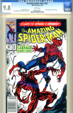 Amazing Spider-Man #361 CGC graded 9.8 first print