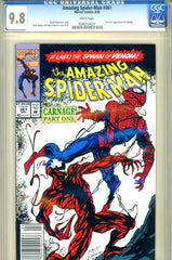 Amazing Spider-Man #361   CGC graded 9.8  first Carnage