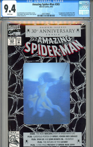 Amazing Spider-Man #365   CGC graded 9.4  first Spider-Man 2099