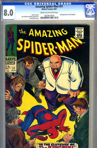 Amazing Spider-Man #051   CGC graded 8.0 - SOLD