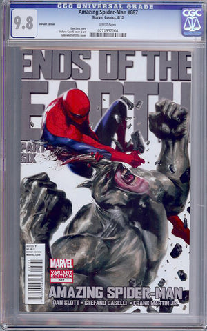 Amazing Spider-Man #687  CGC graded 9.8 - Variant Edition - HIGHEST - SOLD!