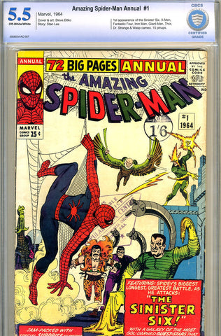 Amazing Spider-Man Annual #1   CBCS graded 5.5 SOLD!