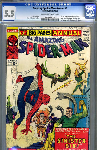 Amazing Spider-Man Annual #1   CGC graded 5.5 - SOLD!