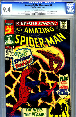 Amazing Spider-Man Annual #4   CGC graded 9.4 - SOLD