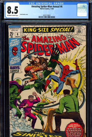 Amazing Spider-Man Annual #6 CGC graded 8.5 SOLD!