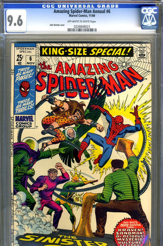 Amazing Spider-Man Annual #6   CGC graded 9.6 - SOLD