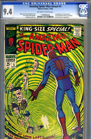 Amazing Spider-Man Annual #5   CGC graded 9.4 - SOLD