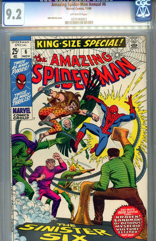 Amazing Spider-Man Annual #6  CGC graded 9.2 Sinister Six SOLD!