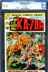 Astonishing Tales #09 CGC graded 9.4 Ka-Zar and Zabu c/s