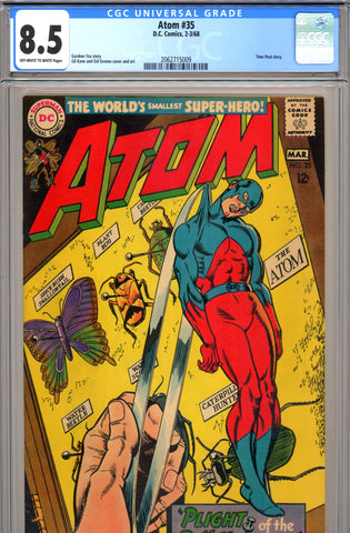 Atom #35 CGC graded 8.5 - Time Pool story