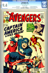 Avengers #04   CGC graded 9.4 first SA Captain America