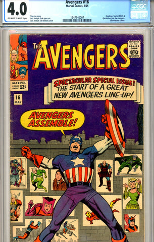 Avengers #16 CGC graded 4.0 new team SOLD!