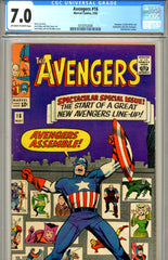 Avengers #16  CGC graded 7.0 classic cover