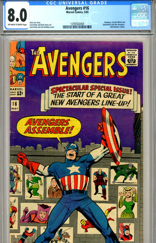 Avengers #16 CGC graded 8.0 new Avengers line-up SOLD!