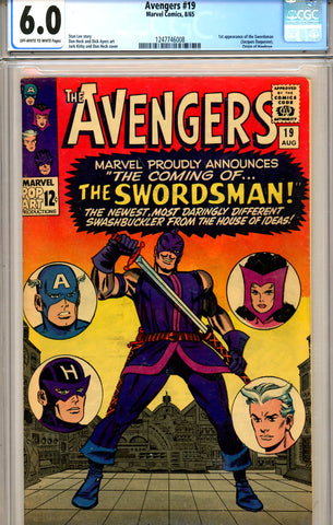 Avengers #19 CGC graded 6.0 first Swordsman SOLD!