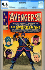 Avengers #19  CGC graded 9.6 - Origin of Hawkeye