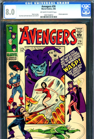 Avengers #026 CGC graded 8.0 - Attuma cover and story - SOLD!