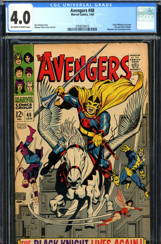 "Avengers #48 CGC graded 4.0 - first ""new"" Black Knight - SOLD!"