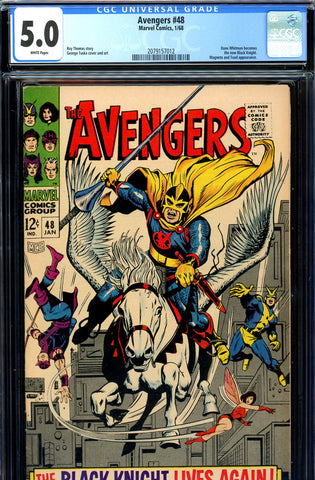 Avengers #48 CGC graded 5.0 - new Black Knight SOLD!