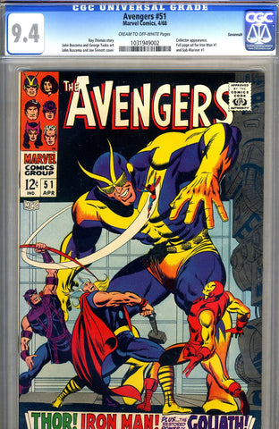 Avengers #51   CGC graded 9.4 - Savannah pedigree - SOLD!