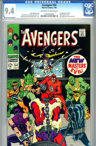 Avengers #054   CGC graded 9.4  first Ultron (cameo) - SOLD!