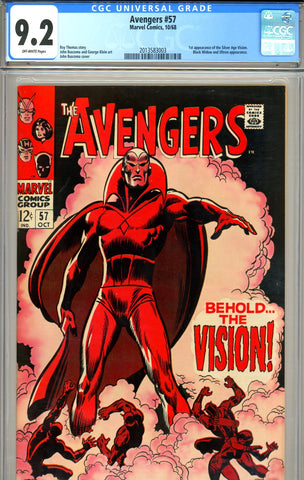 Avengers #057   CGC graded 9.2 first Vision
