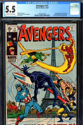 Avengers #71 CGC 5.5 - first appearance of the Invaders - SOLD!