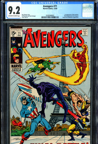 Avengers #071 CGC 9.2 - first Invaders
