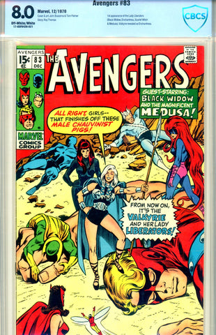 Avengers #83 CBCS graded 8.0 first Lady Liberators