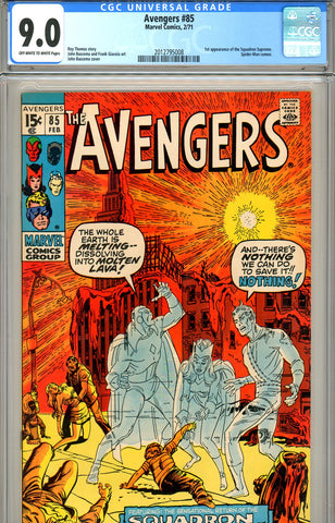 Avengers #85 CGC graded 9.0 first Squadron Supreme SOLD!