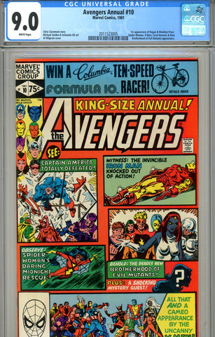 Avengers Annual #10 CGC graded 9.0 first Rogue SOLD!