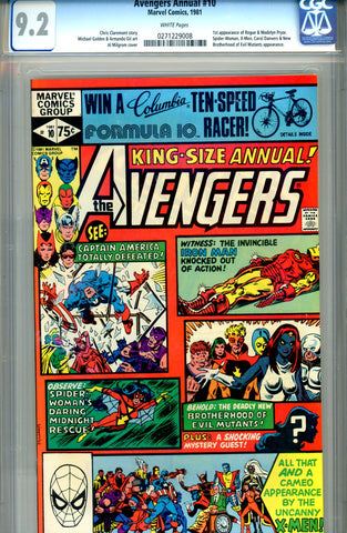 "Avengers Annual #10   CGC graded 9.2  first ""Rogue""  SOLD!"