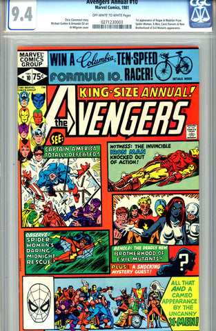 Avengers Annual #10   CGC graded 9.4  SOLD!