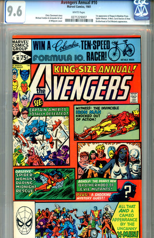 "Avengers Annual #10   CGC graded 9.6 first ""Rogue"" - SOLD!"