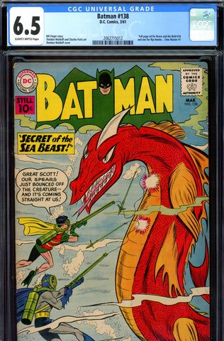 Batman #138 CGC graded 6.5 - Bill Finger story