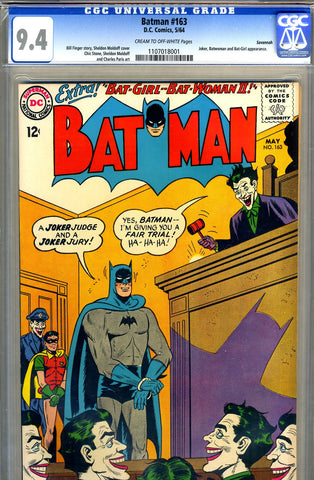 Batman #163   CGC graded 9.4  - Savannah copy - SOLD!